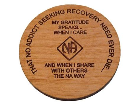 Wooden Na Anniversary Medallions And Recovery Chips
