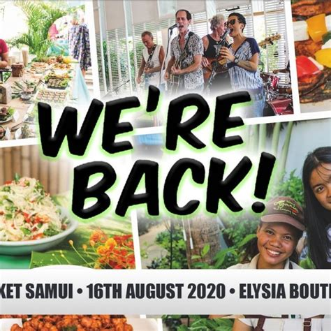 Green Market samui – 16 August 2020 in the Greenlight Cafe ...