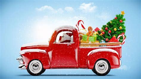 hd hintergrundbilder weihnachten auto weihnachtsbaum