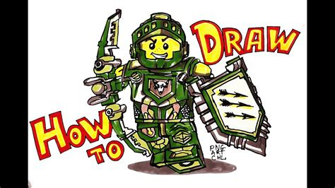How To Draw Aaron From Nexo Knights (lego) Youtube
