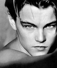 Young Leonardo DiCaprio Black and White