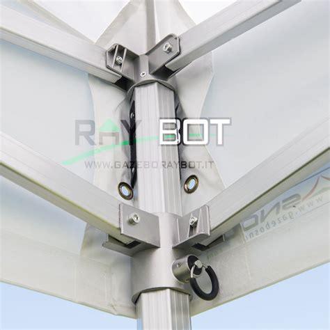 gazebo rapido gazebo rapido 3x3 alluminio bianco exa 55mm con finestre