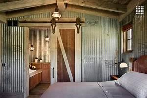 bedroom design ideas with barn door home design garden With barn tin walls