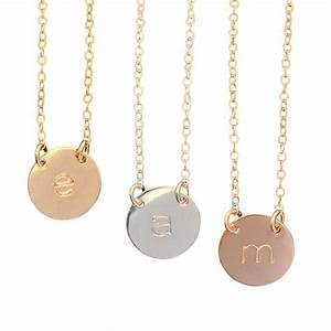 initial necklace misuzi With small gold letter necklace