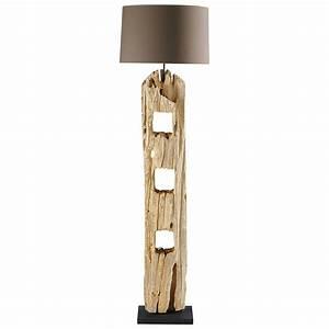 Stehlampe Aus Holz : stehlampe aus holz h 170 cm alpages maisons du monde ~ Indierocktalk.com Haus und Dekorationen