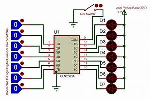 Ic Uln2003 Pin Diagram  Features  Equivalents  U0026 Datasheet