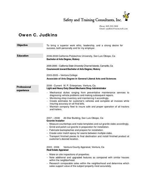 Diesel Service Technician Resumes by Ieee Resume Template