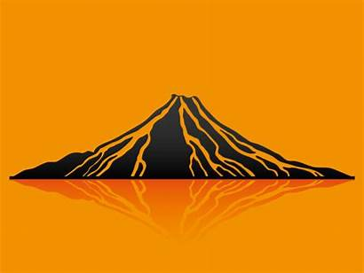 Volcano Vector Illustration Background Illustrations Clip Eruption