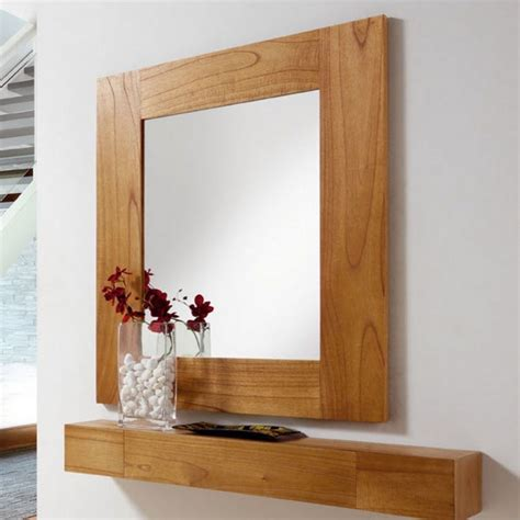 cuisine bois massif miroir salon en bois miroir mural marron clair