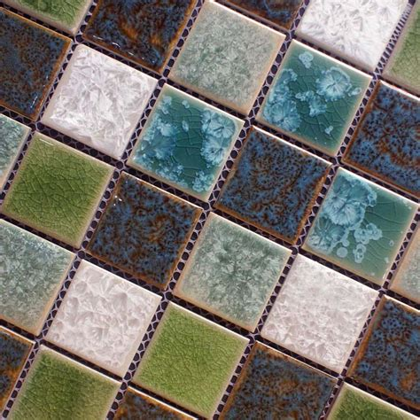faux mosaic tiles porcelain crackle glass mosaic tile brick