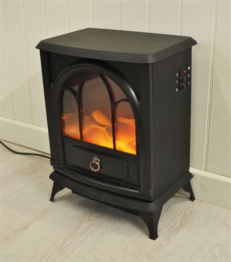 Electric Wood Burner by Kingfisher Cast Iron Wood Burner Effect Electric Stove Ebay