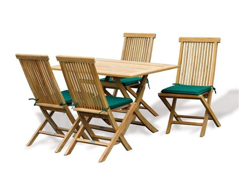 Folding Teak Set With Rimini Rectangular Table & Ashdown