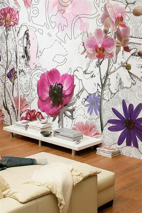 sejour avec dans la chambre 50 photos avec des idées pour poser du papier peint intissé