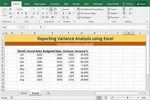 price volume mix analysis excel template - variance analysis excel template calendar monthly printable