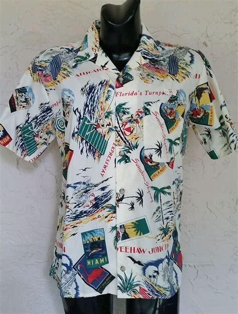 vtg florida turnpike toll booth mens ladies uniform shirt
