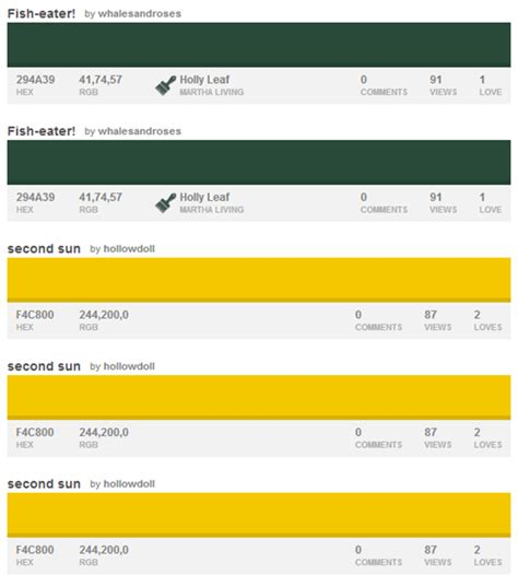 green bay packer colors 32 nfl color palettes