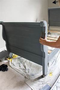 Sleigh Bed Makeover With Chalk Mix And Paint
