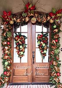 front, door, decorations