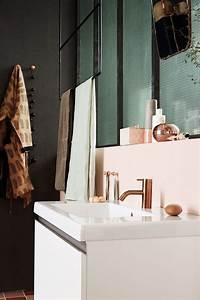 Miroir Cuivre Rose : notre salle de bains rose cuivre et noir mariekke ~ Melissatoandfro.com Idées de Décoration