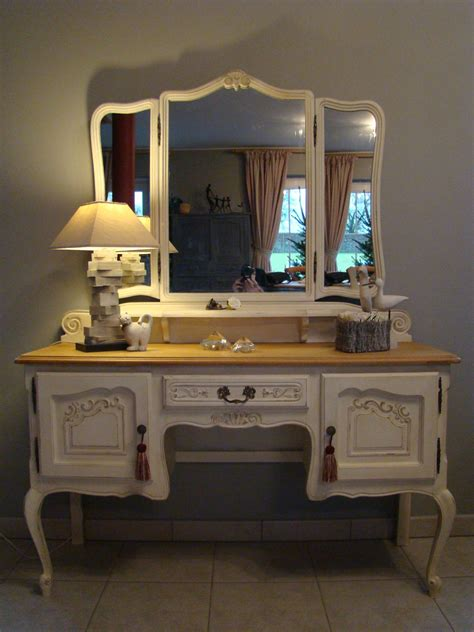 bureau blanc tiroir meuble coiffeuse