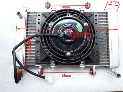 Modified Universal 250cc Atv Quad Buggy Radiator With Fan