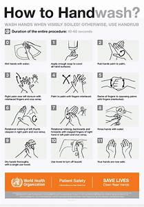 Hand Washing Technique By World Health Organisation  Who