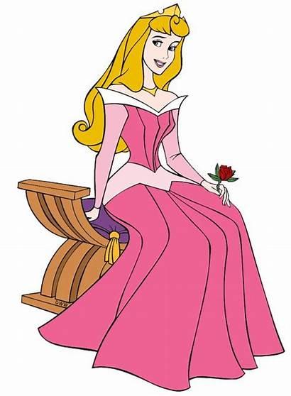 Aurora Disney Princess Clipart Sleeping Beauty Rose