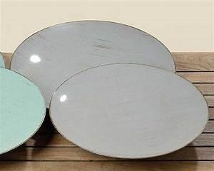 Teller Set Grau : au ergew hnliche deko teller kunststoff teller landhaus ~ Michelbontemps.com Haus und Dekorationen