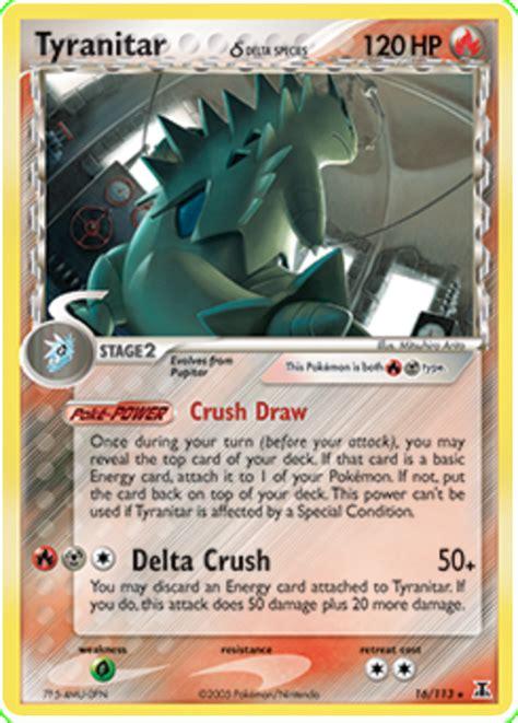 tyranitar delta species  delta species  pokemon card