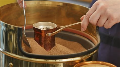 The best of them are reviewed in this article alongside their pros and cons. Preparation of Turkish Coffee in Copper Cezve on the Hot Sand by FancyStudio