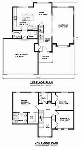 Two Storey Building Architectural Drawing Complete Example