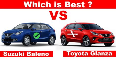 suzuki baleno  toyota glanza full comparison