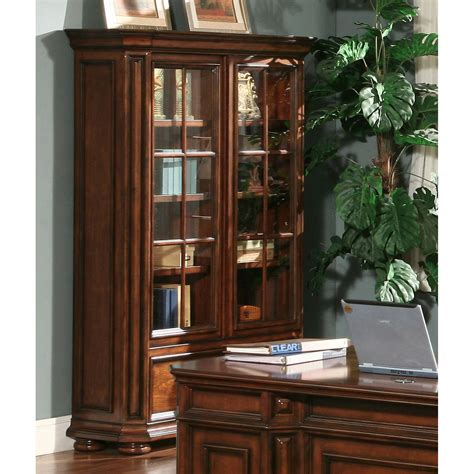 Bookcases With Doors by Riverside Cantata Windowpane Bookcase With Doors