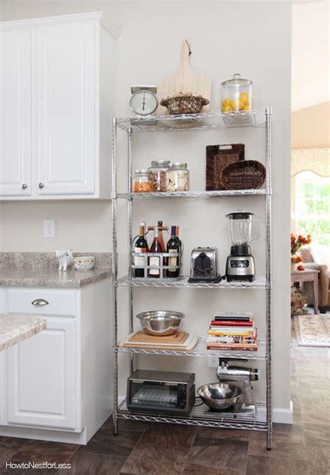 kitchen industrial shelving organizing rental kitchen