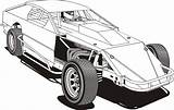 Dirt Late Coloring Racing Mod Template Modifieds Modified Track Sprint Cars Speedway Nascar Sketch Amick Corner Kankakee sketch template