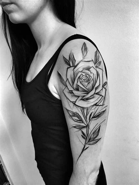 Inez Janiak sketch tattoos | Inez Janiak sketch tattoos | Rose tattoos, Tattoos, Flower tattoos