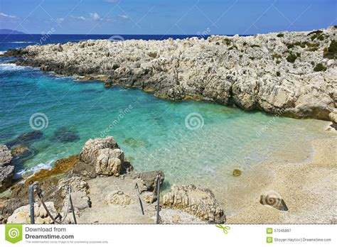 Amazing Panorama Of Emblisi Fiskardo Beach, Kefalonia