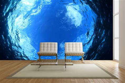 exotic underwater wall mural ideas   living rooms