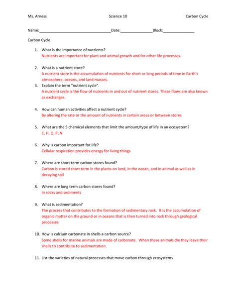 Worksheet Nutrient Cycles Worksheet Worksheet Fun Worksheet Study Site
