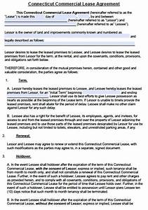 free connecticut commercial lease agreement template pdf With commercial building lease agreement template