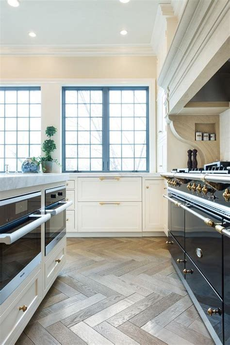 Kitchen Island with Two Microwave Ovens   Transitional