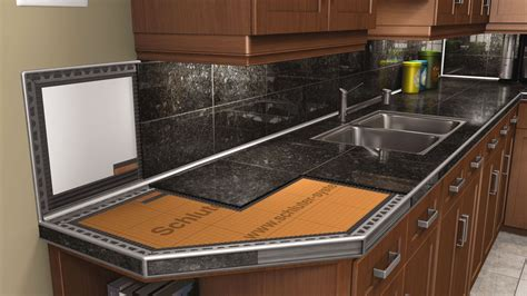 tiled kitchen counters countertops schluter 2783