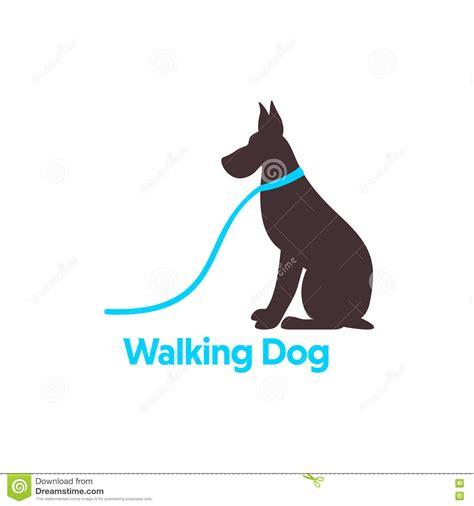Logo Design For Dog Walking. Vector Illustration ...