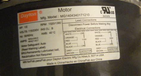dayton electric motors wiring diagram 46 wiring
