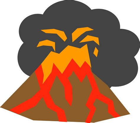 Volcano Clip Disaster Clipart Volcano Lava Pencil And In Color