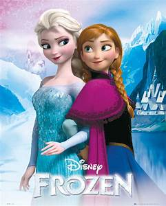 "FROZEN Poster Reine des Neiges 40 x 50 cm "" Anna And Elsa "" Frozen Reine des Neiges"