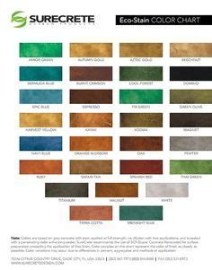 Beautiful concrete staining coloring options from