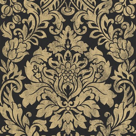 Graham & Brown Artisan Black & Gold Gloriana Metallic