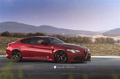 Alfa Romeo Giulia Coupe Rendered As The Sprint Towards