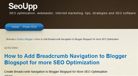 more seo optimize how to add breadcrumb navigation to for